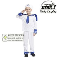 >> Click to Buy << Children's Halloween Costumes Boys Kids Seaman Navy Sailor Costume Cosplay Fantasia Disfraces Performance Stage Uniforms #Affiliate