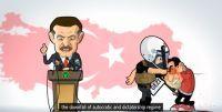 Erdoğan'a çizgi filmli eleştiri!