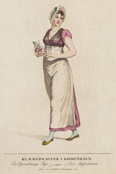 Opvartnings pige (waiting maid) by Johannes Senn, Danish, Ca 1820. Statens Museum for Kunst, nr. KKSgb6136