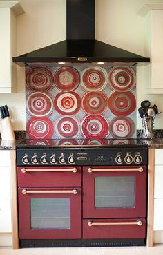 awesome stove and back splash