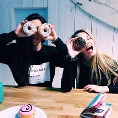 best friend, donut, food, friendship, girl, goals, grunge, happy, love, nice, tumblr, best friend goals, friendship goals