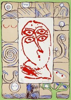 Lithograph - Pierre Alechinsky - Ophtalmologue, 1972