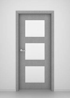 Grey Oak Newport Glass Interior Door