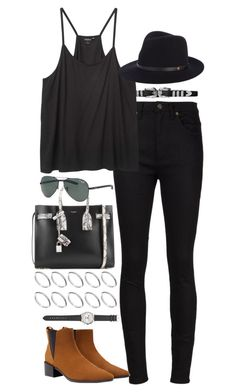 """Inspired outfit with Zara shoes"" by pagesbyhayley ❤ liked on Polyvore featuring Yves Saint Laurent, Monki, rag & bone, ASOS, Zara, J.Crew and Ray-Ban"