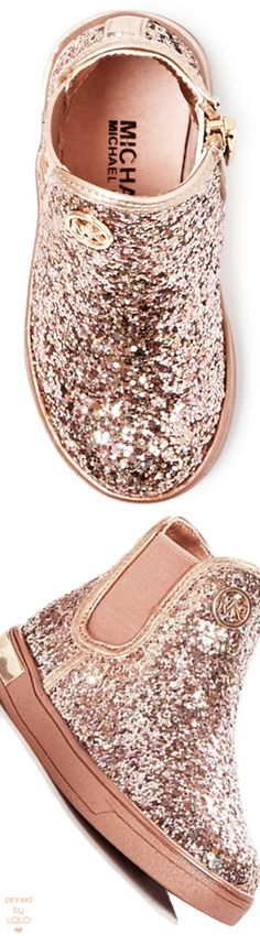 MICHAEL Michael Kors Girls' Ollie Rae Glitter High Top Sneakers Walker, Toddler