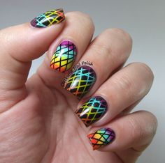 The Clockwise Nail Polish: Neon & Stamping Gradient