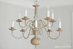 I hope you all are having a wonderful weekend! Tonight I wanted to show you a quick makeover we did on an outdated chandelier. We ac...