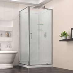 corner shower kits 36 x 36. DreamLine shower kits offer a complete solution to transform  space Flex 36 in x Cornerview 76 75 Corner Sliding Shower