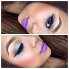 Makeup of the Day: WINGED LINER WITH A POP OF COLOR by Powell. Browse our real-girl gallery