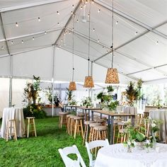 Casual Affair — Simple Dining Solutions for a Casual Wedding. This would be awesome for any summer event outside where it's more informal.