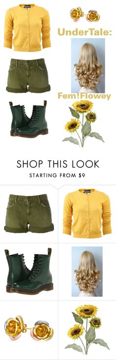"""""""UnderTale: Fem!Flowey"""" by derpiplier ❤ liked on Polyvore featuring Current/Elliott, Boutique Moschino, Dr. Martens, Bling Jewelry and Pier 1 Imports"""