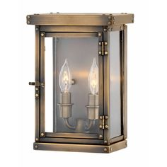 Hinkley Lighting Dark Antique Brass Hamilton 2 Light Tall Heritage Outdoor Wall Sconce with Clear Glass Brass Outdoor Lighting, Outdoor Wall Lantern, Outdoor Wall Sconce, Outdoor Walls, Wall Lights, Ceiling Lights, Hinkley Lighting, Cool Floor Lamps, Wall Sconces
