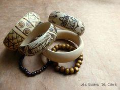 Claire dans tous ses éclats... : [DIY] Bracelets africains en bois