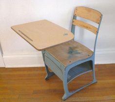 Antique Childs School Desk