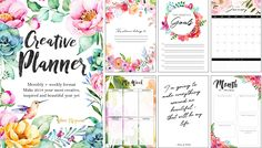 Download this FREE 2018 planner for your most beautiful, inspired, and creative year yet! Featuring 100 pages of stunning watercolour & floral designs.