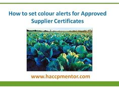 Are your approved supplier HACCP certificates current?