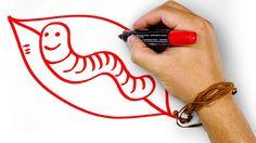 Красный Червяк, рисуем маркером, РыбаКит