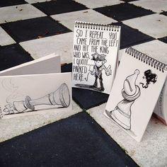 Chess accident #cartoonbombing  (à Amsterdam)