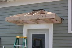 build a front door how to build a front door overhang bricks honey building the back your own awning prefabricated build portico over front door Home Renovation, Home Remodeling, Front Door Overhang, Marquise, Side Door, Back Doors, Exterior Design, Diy Exterior Door Awning, Diy Awning