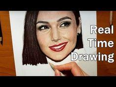 Real Time Drawing: Gal Gadot Portrait in Colored Pencil  | Jasmina Susak