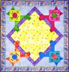 Amazon.com: Cat Nap Quilt Pattern: Arts, Crafts & Sewing. What an adorable quilt for a baby or toddler!