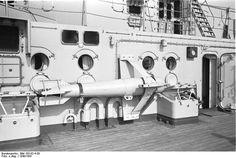 View aboard Bismarck, starboard side, 1940-1941