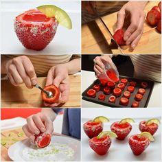 Strawberry Margarita Jell-O Shots - fancy-edibles.com