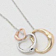 Trinity Heart Necklace on Emma Stine Limited