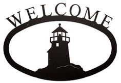 Lighthouse Welcome Sign - Small
