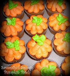 Pumpkin Themed Baby Shower Favors | She also baked these adorable pumpk in cupcakes a nothergrea t ...