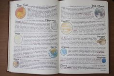 "studdiction: "" Notes on geography and planets "" That handwriting though…"