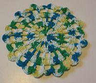 Modern Ruffle Dishcloth pattern by Melissa Green