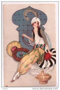 "ALBERTO VARGAS Pin-up Art Painting Poster or Canvas Print /""Vargas Girl/"" #6"
