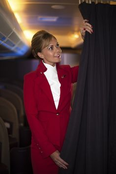 Virgin Atlantic new cabin crew uniform oh.. not so hot anymore...