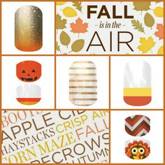 Show some Fall Style. Pumpkin Spice, Jacks and Corns, Gobble Me Up! Shop today (jacks and corn is retired) https://jomartensjams.jamberry.com/category/holiday
