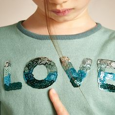 Shiny Love Jumper - Aqua - Girls Knitwear - Girls 2-13YRS