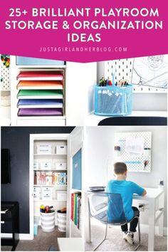 Puzzle Organization, Small Space Organization, Home Office Organization, Organization Hacks, Organizing Tips, Refrigerator Organization, Playroom Storage, Wall Storage, Organized Playroom