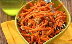 Carrot salad with nuts and parsley, a step by step recipe with .- Carrot Salad with Nuts and Parsley Dieta Detox, Carrot Salad, Back Fat, Cooking Light, Parsley, Quinoa, Carrots, Chicken Recipes, Healthy Living