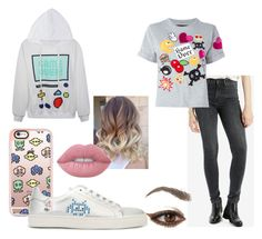 """""""Gamer outfit"""" by clarinharad ❤ liked on Polyvore featuring Casetify, Levi's, Anya Hindmarch, Philipp Plein and Lime Crime"""