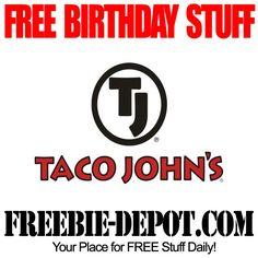 FREE BIRTHDAY STUFF - Taco John's - Birthday Freebie Dessert  #freebirthday