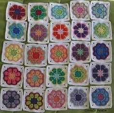 8 petal african flower free pattern