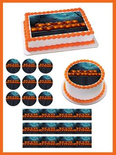 Halloween 1 Edible Birthday Cake Topper OR Cupcake Topper, Decor - Edible Prints On Cake (Edible Cake &Cupcake Topper)