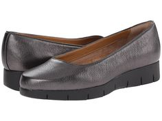 Clarks Daelyn Towne Pewter Metallic Leather - 6pm.com