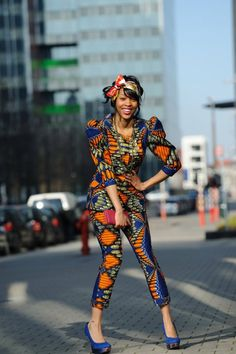 Best trends for African print cropped pant suit, posted on March 2014 in Outfits African Wear, African Attire, African Women, African Dress, African Style, African Beauty, African Models, African Girl, African Clothes
