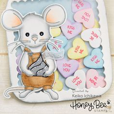 Candy Hearts Mason Jar Shaker Card – Honey Bee Stamps