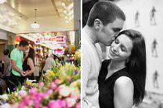 Downtown Seattle Seattle Engagement Photographer pikes market public market rachael kruse photo