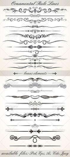 Ornamental Rule Lines - Characters Vectors