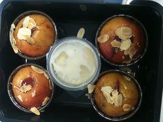 Gevulde appels met cranberry compote, amandeschaafsel en vanillesaus Www.keukendivers.nl