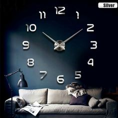2017 New Metall Moderne 3D DIY Wall Clock Acrylic EVR Metal Mirror Home  Decoration Super Big 130cm X130 Cm Factory Freeshipping. Yesterdayu0027s Price:  US $8.69 ...
