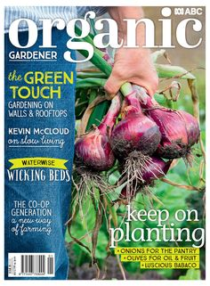 The latest issue of Organic Gardener is onsale today! Learn the secret to succes. Wicking Beds, Planting Onions, Water Wise, Organic Gardening, Latest Issue, Secret To Success, Kevin Mccloud, Wicked, Vertical Gardens